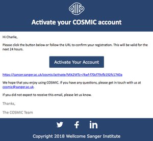 Activate your COSMIC account